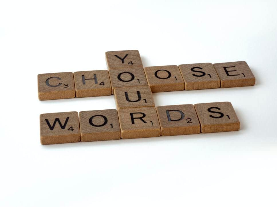 Choose Your Words scrabble blocks